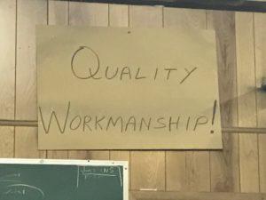 Quality Workmanship